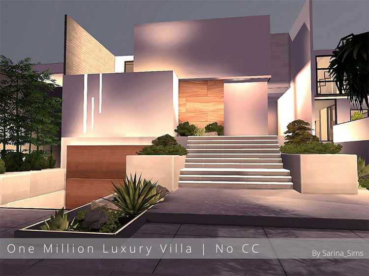 One Million Luxury Villa Lot for Sims 4