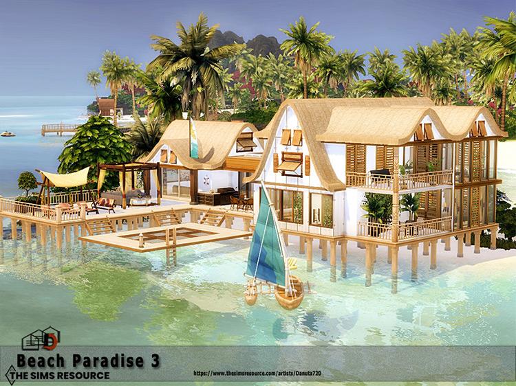 Beach Paradise Mansion #3 / Sims 4