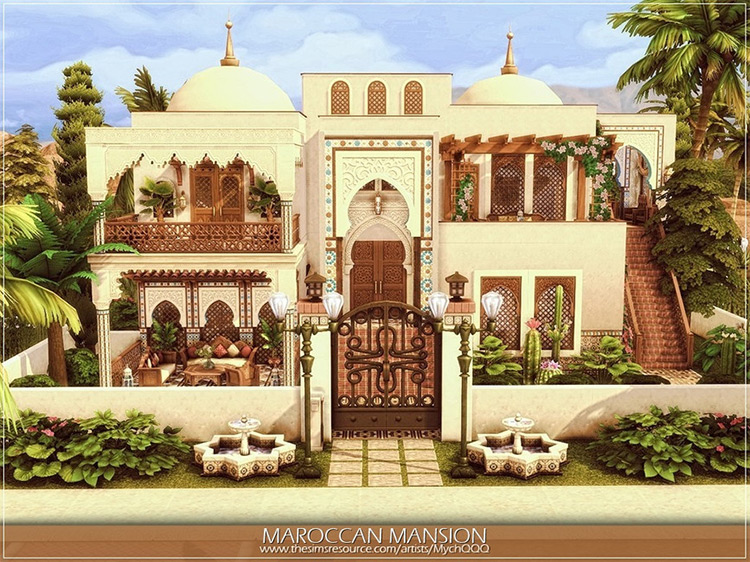 Moroccan Mansion Lot / Sims 4