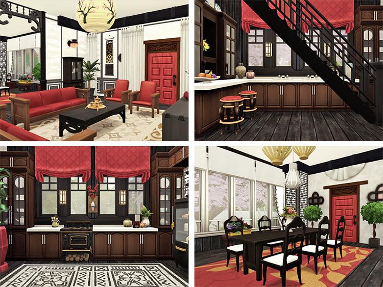 Shuang Mansion Lot / Sims 4