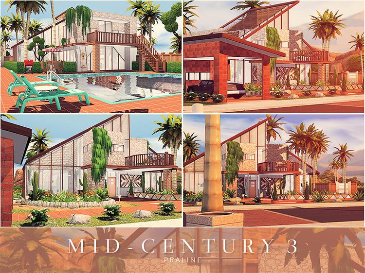 Mid-Century Mansion #3 / TS4 CC