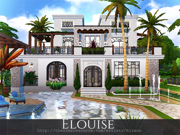 Elouise Mansion Lot for Sims 4