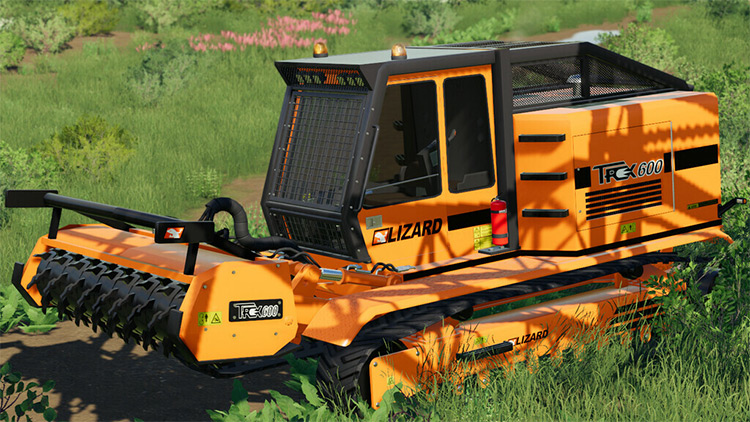 LIZARD Trex600 Woodchipper / Farming Simulator 19 Mod