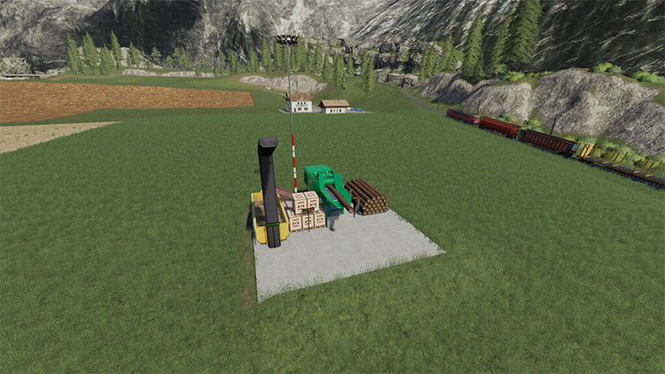 Stationary Wood Chipper Mod for FS19