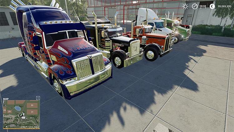 American Trucks Pack v1.0 / FS19 Mod