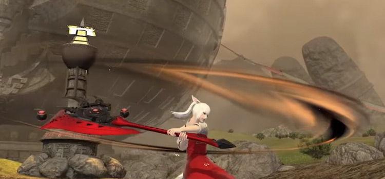 Main Attack Warrior with Axe in Final Fantasy XIV