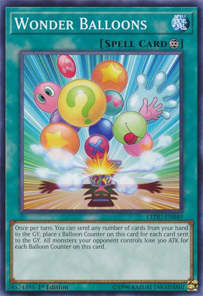 Wonder Balloons Yu-Gi-Oh Card
