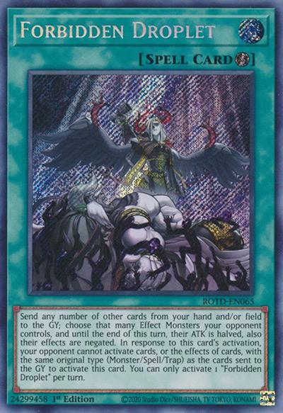 Forbidden Droplet YGO Card