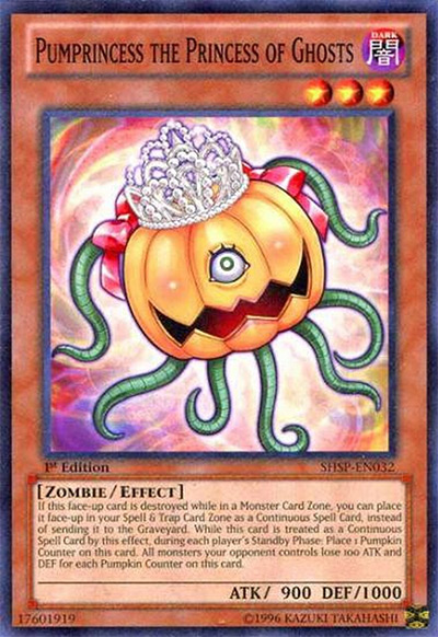 Pumprincess the Princess of Ghosts YGO Card