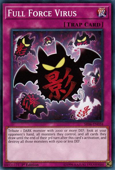 Full Force Virus YGO Card