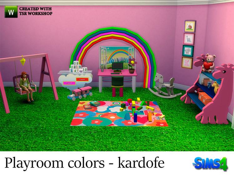 Playroom Colors Set / Sims 4 CC
