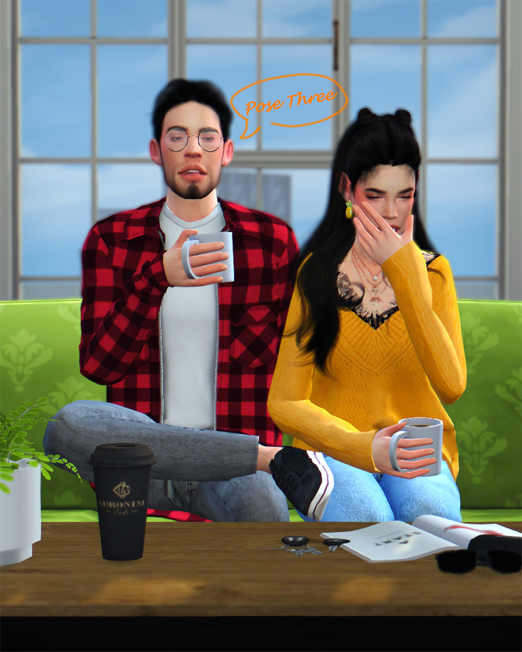 Couple Coffee Date Posepack / Sims 4