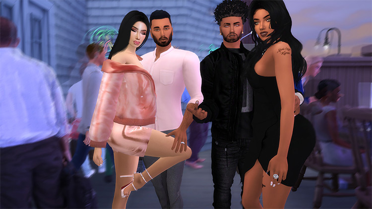 Double Date Night Poses by Trendingsims / TS4