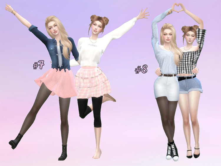 Bestie's Pose Pack for TS4