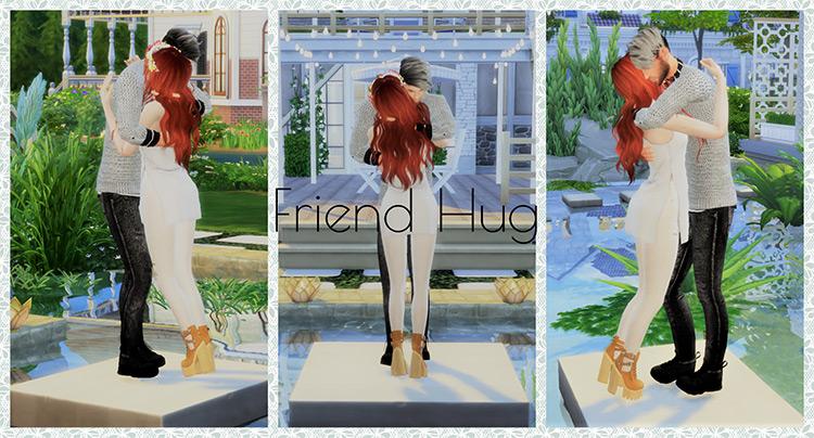 Friend Hugs by sense-company / The Sims 4