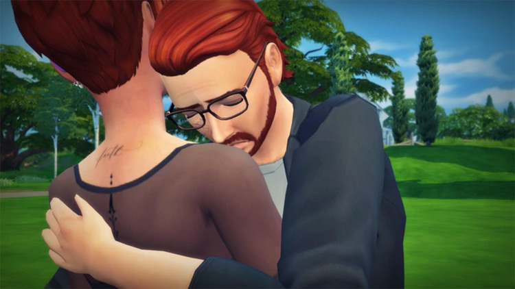 Hug it Out Poses by ashes2ashes / The Sims 4