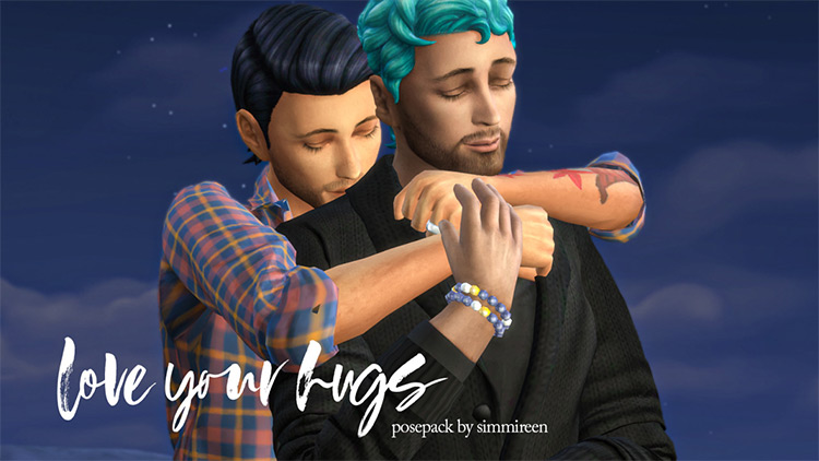 Love Your Hugs Posepack by simmireen for The Sims 4