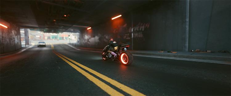 Yaiba Kusanagi Neon Rims Mod for Cyberpunk 2077