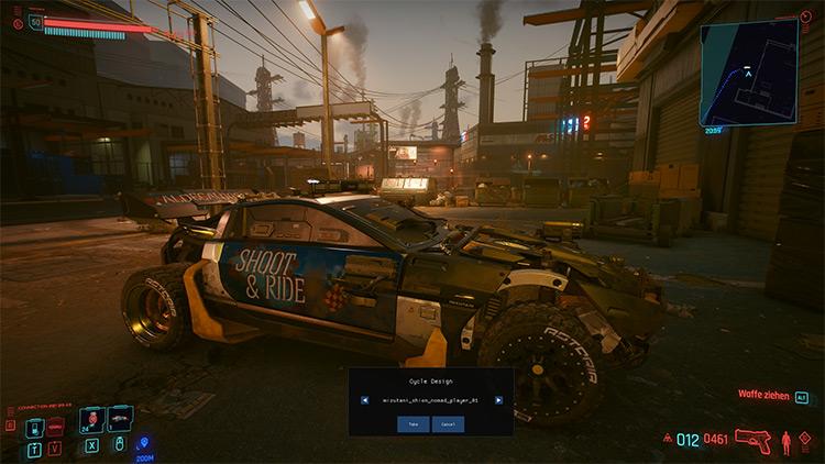 Sell Stolen Cars / Cyberpunk 2077 Mod Screenshot