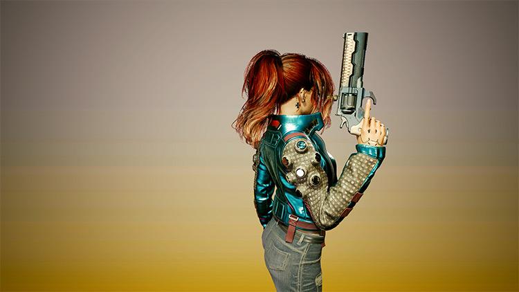 Claire's Ponytail Cyberpunk 2077 Mod
