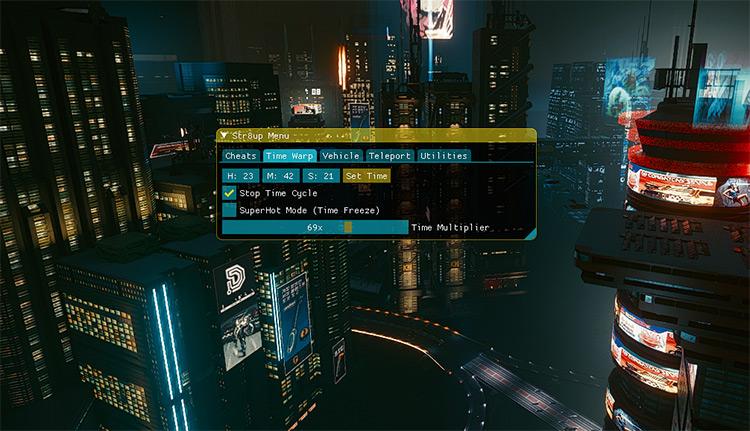 Str8up Mod Menu Mod / Cyberpunk 2077