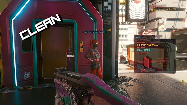 Spicy Clean Hack Screen Mod for Cyberpunk 2077