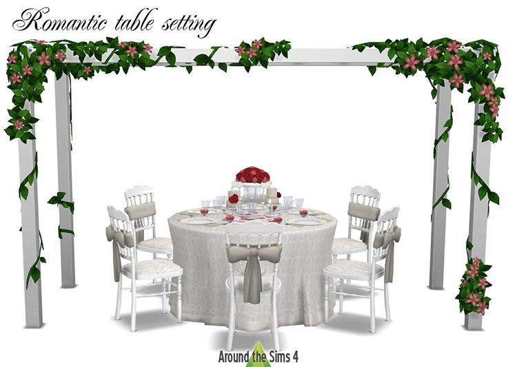 Romantic Table Setting / Sims 4 CC