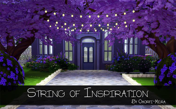 String of Inspiration Lights / TS4 CC