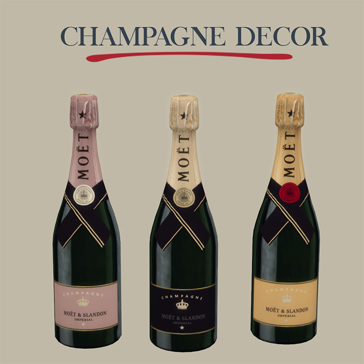 Champagne Décor CC for The Sims 4
