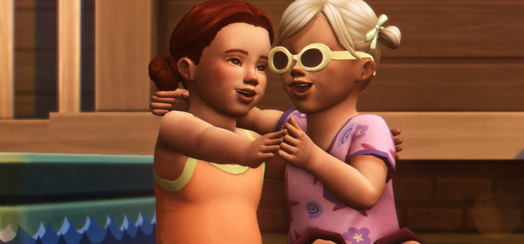 Sims 4 Toddler Cuties Pose Pack Preview