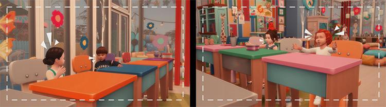 Kindergarten Memories Pose Pack / TS4 CC