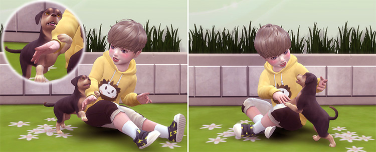Toddler & Puppy Poses for The Sims 4