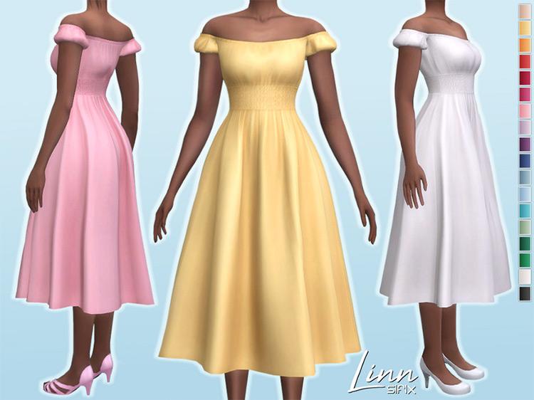 Linn Dress for The Sims 4