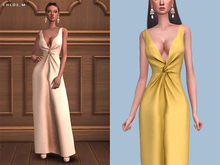 Long Dress Design / Sims 4 CC