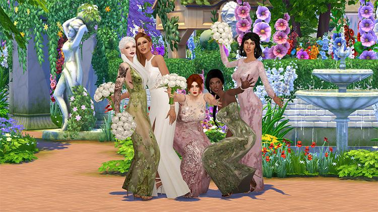 White Wedding Poses Set / TS4