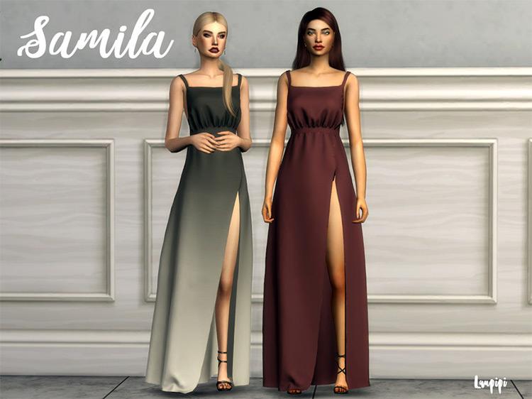 Samila Dress CC for The Sims 4