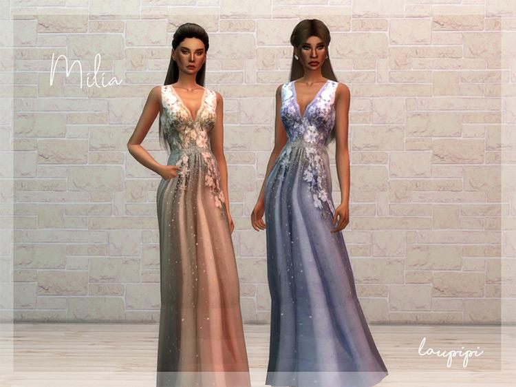 Milia Dress / Sims 4 CC