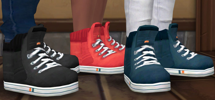 Sims 4 High Top Sneakers for Guys (CC)