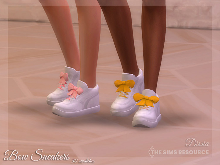 Bow Sneakers Hi-Tops for The Sims 4