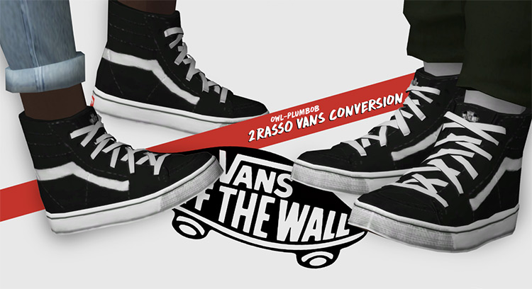 Vans Conversion Hi-Tops for The Sims 4