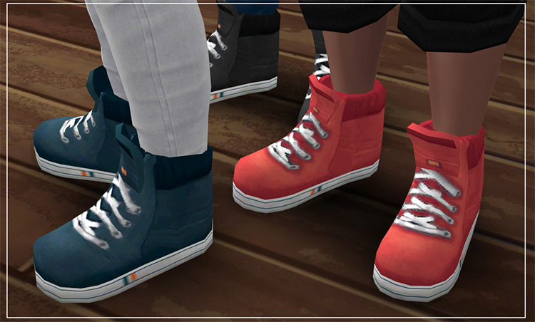 Hi-Tops Sneakers (Guys) for The Sims 4