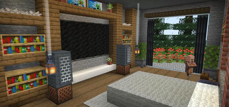 Custom Minecraft Bedroom Build Screenshot