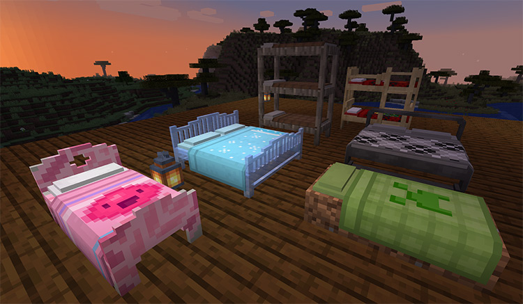 Multibeds Minecraft Mod Preview