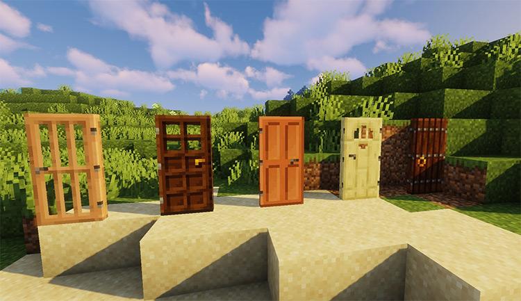 Macaw's Doors Minecraft Mod Preview