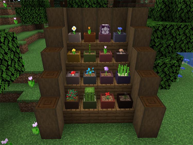 Botany Pots Minecraft Mod Preview