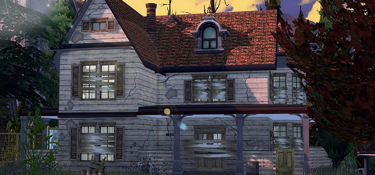 Abandoned Haunted House Lot Preview / The Sims 4