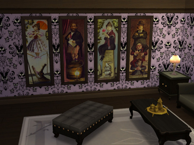 Haunted Mansion Paintings for The Sims 4