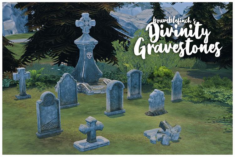 Divinity Gravestones / Sims 4 CC