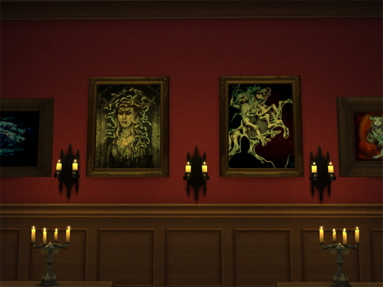 Horseman and Medusa Paintings / TS4 CC