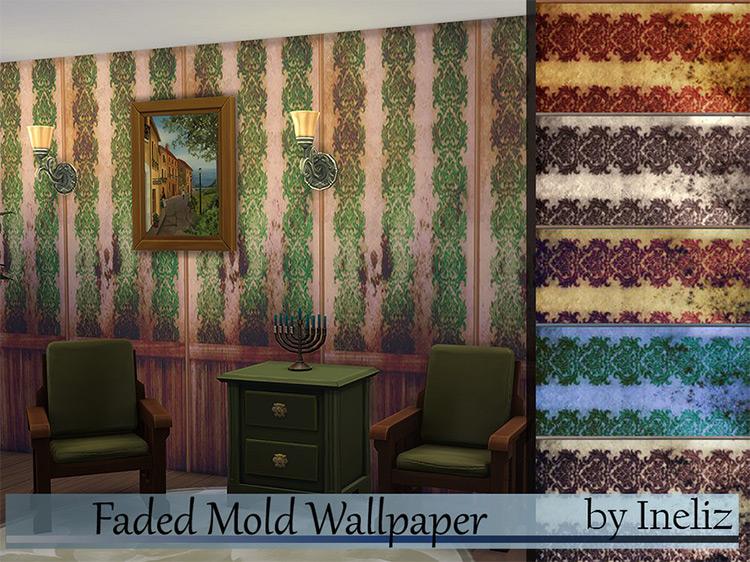 Faded Mold Wallpaper / Sims 4 CC